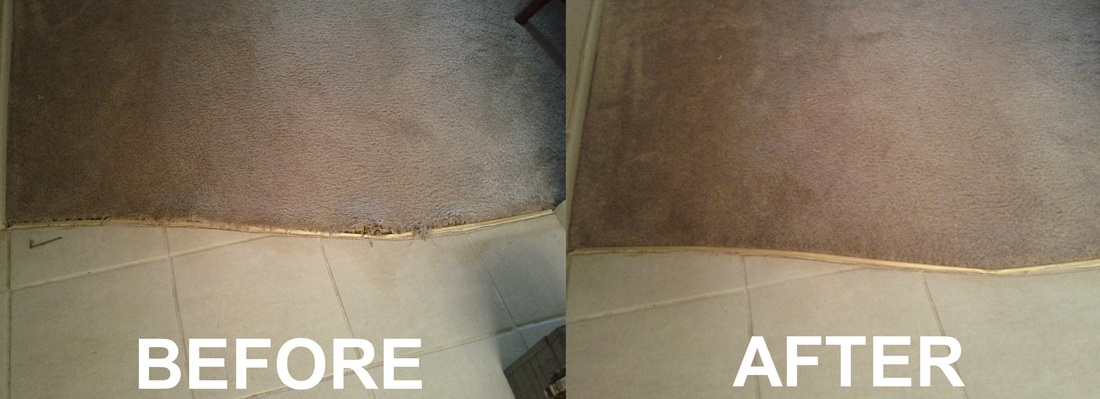 Here a customer needed a loose carpet / tile transition repaired. It was  necessary to use the existing transition